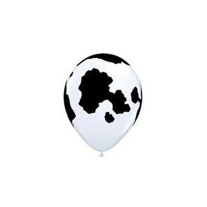 25 Latex Cow Print Balloons